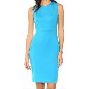 Calvin Klein Blue Scuba Sheath Dress